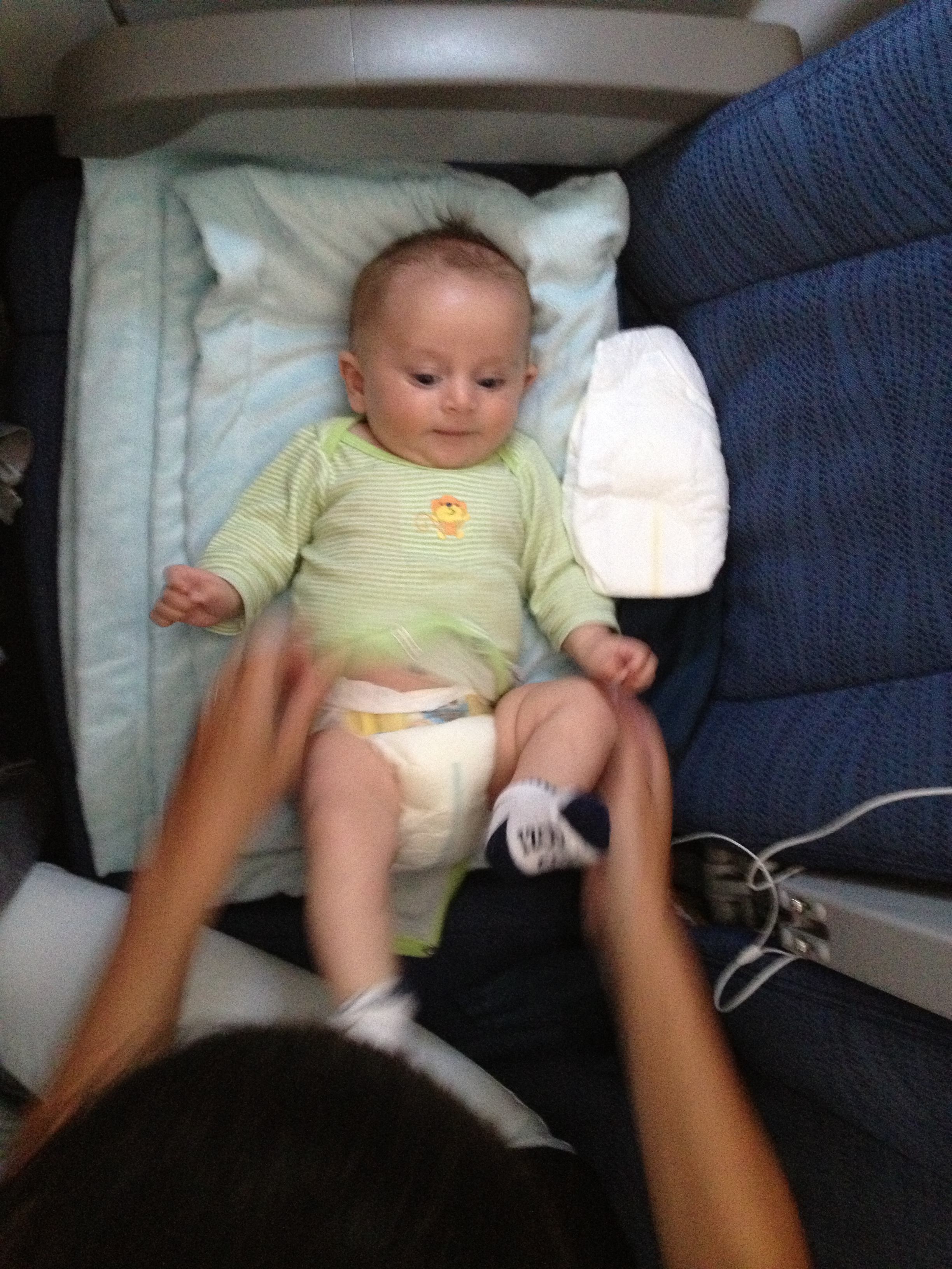 Baby bed airplane - At This Age Depending On Your Baby S Size You Can Also Try Putting Your Pillow On Your Drop Down Table Tray The Pillow Is Tedious To Carry Through The